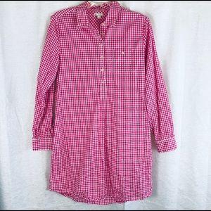 GAP Mindy Pink Gingham Check Shirt Dress M
